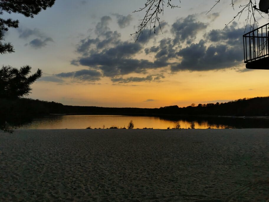 Sonnenuntergang am Großsee