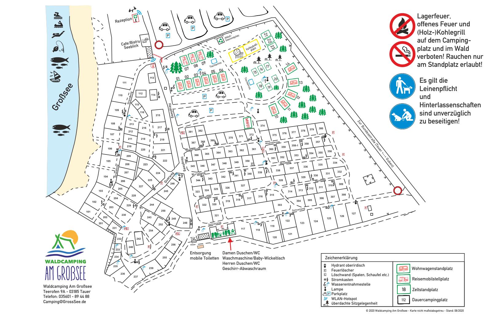 Lageplan Waldcamping Großsee