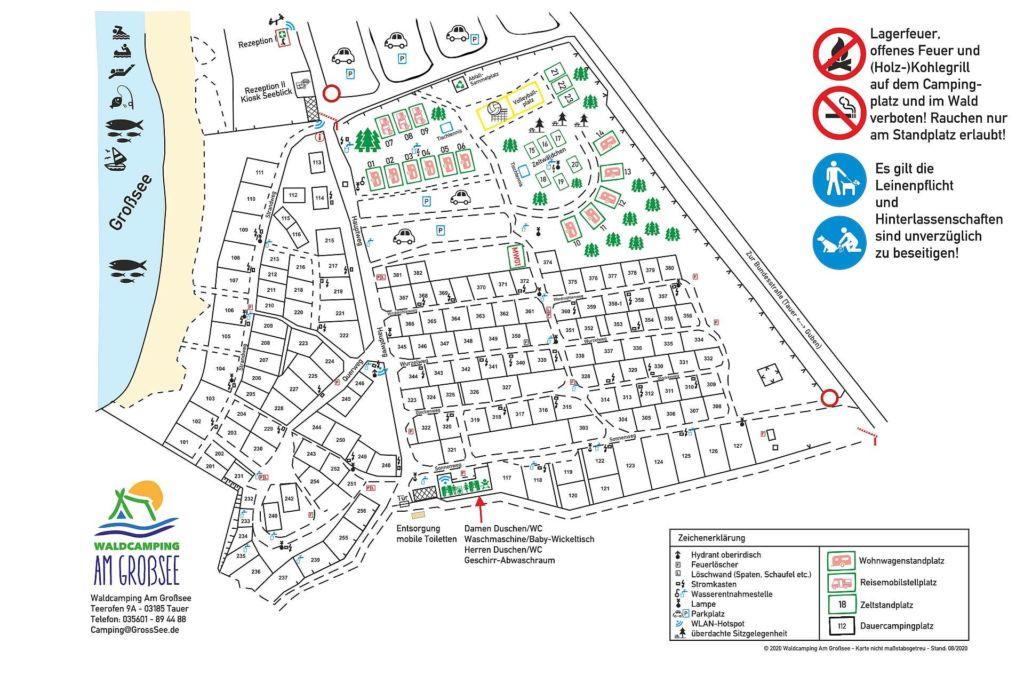 Waldcamping Großsee Lageplan